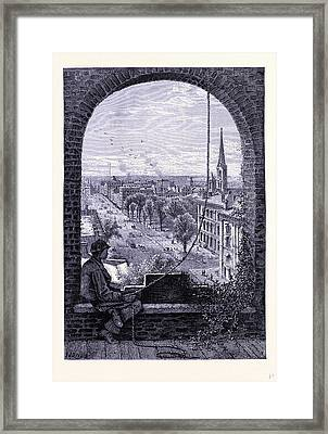 Superior Street In Cleveland United States Of America Framed Print by American School