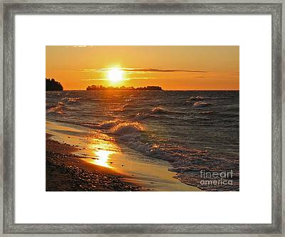 Superior Sunset Framed Print by Ann Horn