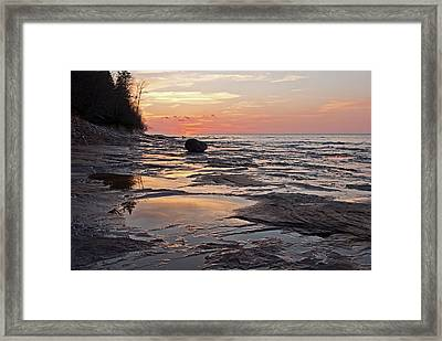 Superior Sunset  Framed Print