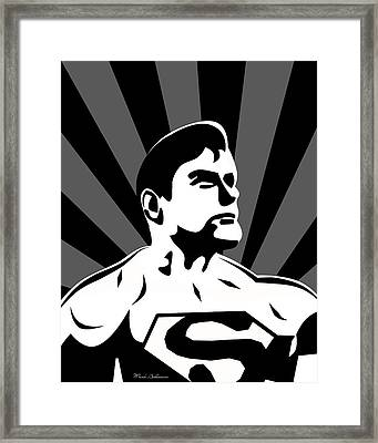 Superman 5 Framed Print by Mark Ashkenazi