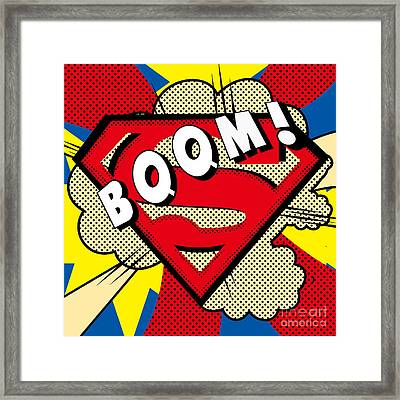 Superman Boom  Framed Print by Mark Ashkenazi