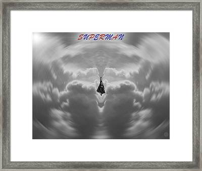 Superman Framed Print by Dan Sproul