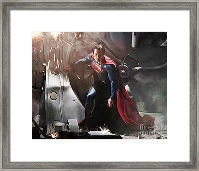 Superman Framed Print by Paul Tagliamonte
