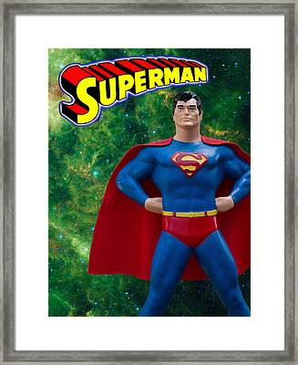 Superman Poster Redux Framed Print by William Patrick
