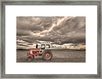 Superman Sepia Skies Framed Print by James BO  Insogna