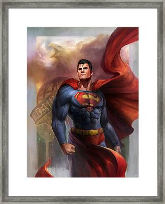 Man Of Steel Framed Print