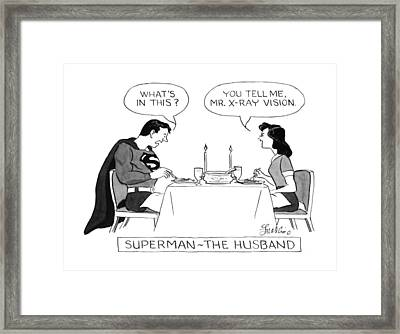 Superman - The Husband Framed Print by Edward Frascino