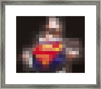 Superman Framed Print by Tony Rubino
