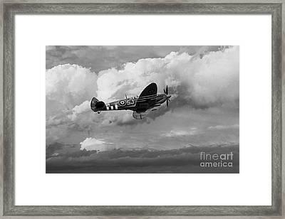 Supermarine Spirfire Mk Lfix - Mono  Framed Print by J Biggadike