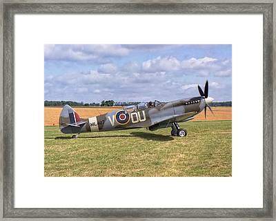 Framed Print featuring the photograph Supermarine Spitfire T9 by Paul Gulliver