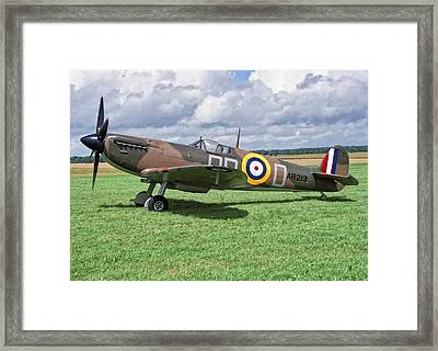 Framed Print featuring the photograph Supermarine Spitifire 1a by Paul Gulliver