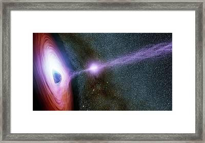 Supermassive Black Hole Corona Framed Print by Nasa/jpl-caltech