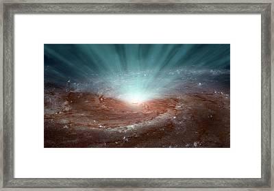 Supermassive Black Hole Framed Print by Nasa/jpl-caltech