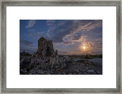 Supermoon At Mono Lake Framed Print by Cat Connor