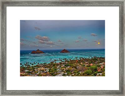 Supermoon Moonrise Framed Print