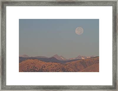 Supermoon Over Colorado Rocky Mountains Indian Peaks Framed Print