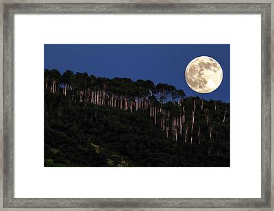 Supermoon Over Moon Hill Framed Print