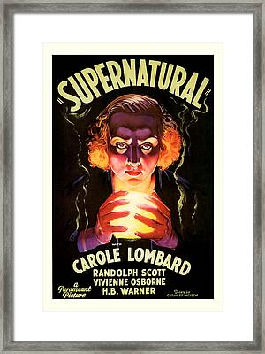 Framed Print featuring the mixed media Supernatural 1933 by Presented By American Classic Art