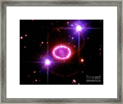 Supernova 1987a Remnant Framed Print by Science Source