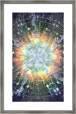 Supernova - Artwork From The Science Tarot Framed Print by Janelle Schneider