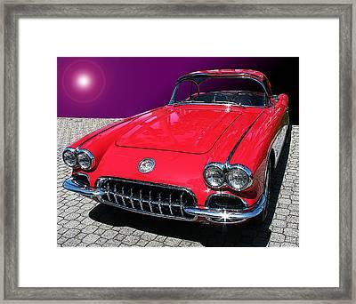 Supernova Corvette Framed Print