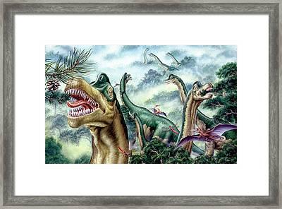 Supersaurus Dinosaurs Framed Print
