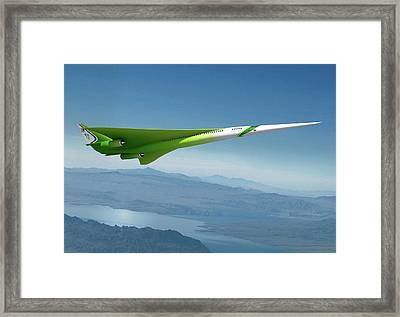 Supersonic Plane Concept Framed Print