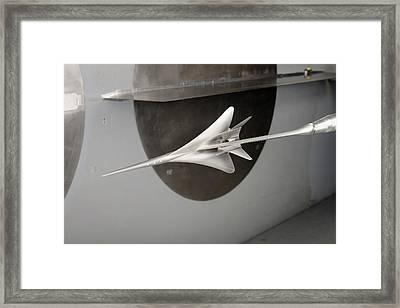Supersonic Plane Concept Testing Framed Print