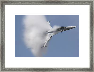 Supersonic Super Hornet Framed Print by John Clark