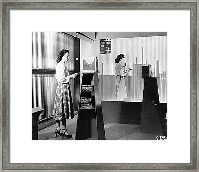 Supersonic Wind Tunnel Framed Print