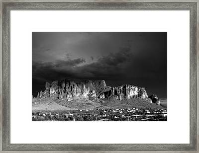Superstition Mountain Framed Print by Maxwell Amaro