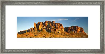 Superstition Mountains, Arizona, Usa Framed Print