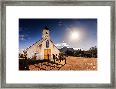 Superstition Prayer Framed Print by Bill Cantey