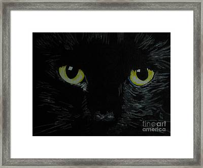 Superstitious Eyes Framed Print by Nancie Johnson