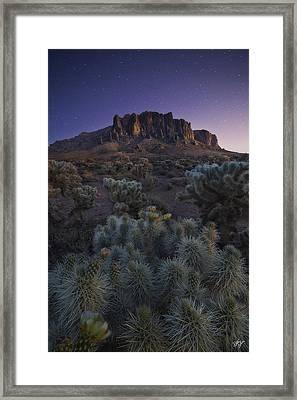 Superstitious Twilight Framed Print by Peter Coskun