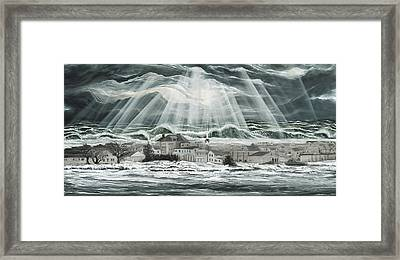 Superstorm Sandy Sea Bright Nj Framed Print by Ronnie Jackson
