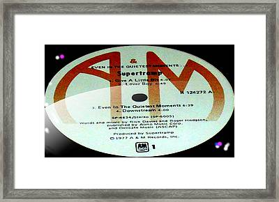 Supertramp- Even In The Quietest Moments - Side A Framed Print
