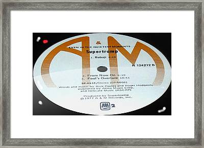 Supertramp- Even In The Quietest Moments - Side B Framed Print
