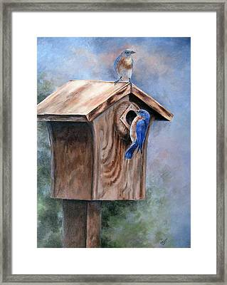 Framed Print featuring the painting Supervised Feeding by Mary McCullah