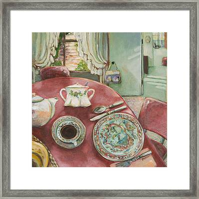 Supper At 5pm Framed Print by Jen Norton