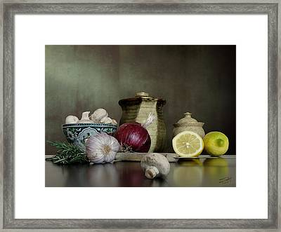 Supper Palette Framed Print by IM Spadecaller