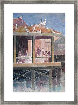 Supper Time Framed Print by John  Svenson