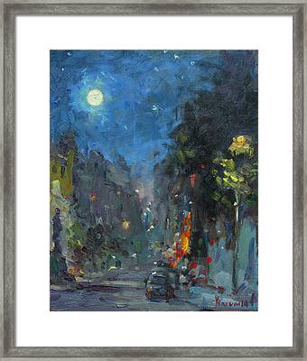 Supermoon 2014 Framed Print by Ylli Haruni