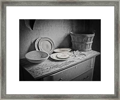 Suppers Gone By 2 Framed Print by EG Kight
