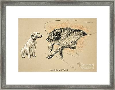 Supplication Framed Print by Cecil Charles Windsor Aldin