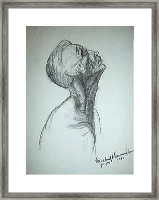Supplication Framed Print by Esther Newman-Cohen