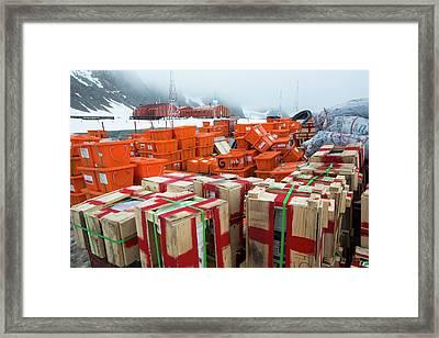 Supplies At Base Orcadas Framed Print