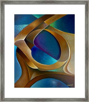 Support Framed Print by Claudia Goodell