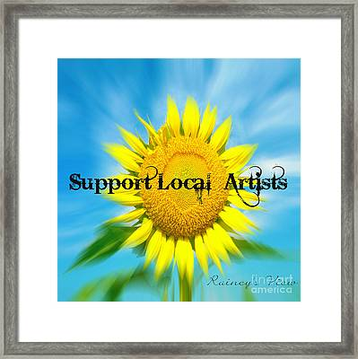 Support Local Artists Framed Print by Lorraine Heath