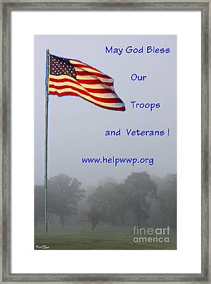 Support Our Troops And Veterans Framed Print